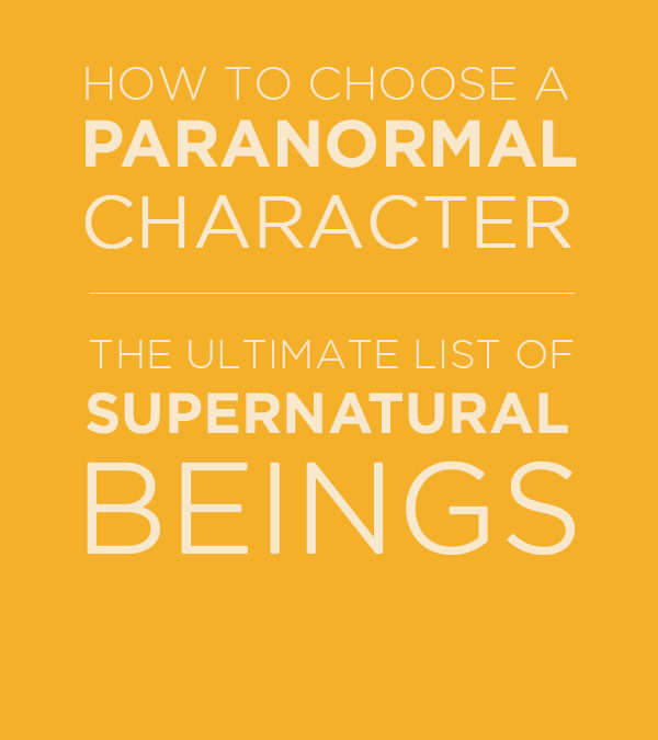 Creating Your Paranormal Romance