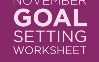 November Goals for Writers
