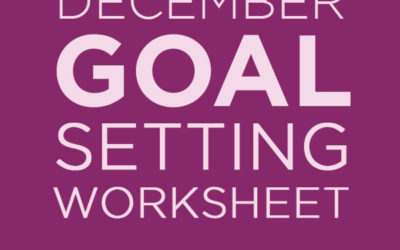 December Goals for Writers