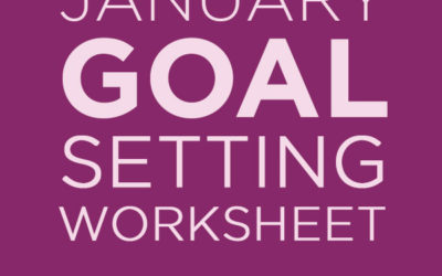 January 2019 Goal Setting Workbook